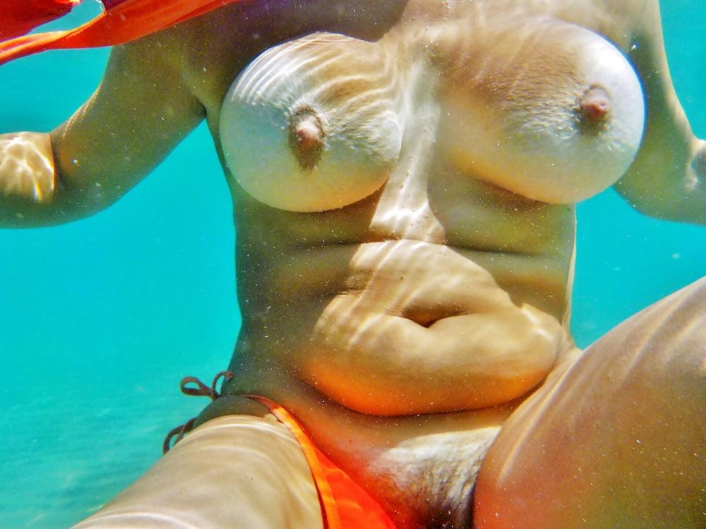 Underwater bikini porn