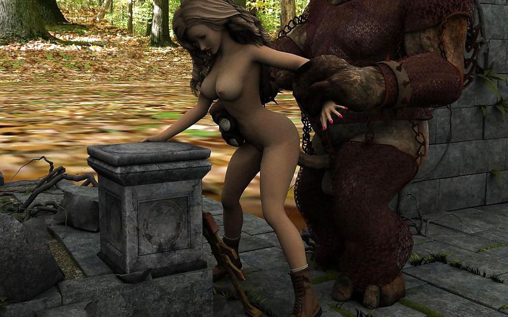 Sexy girl getting fucked by monster — 8