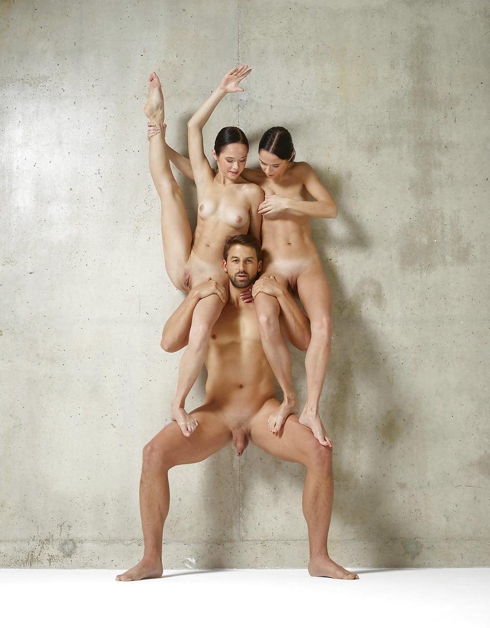 Acrobatics nude