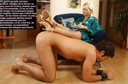 Femdom male furniture, objectification, captions