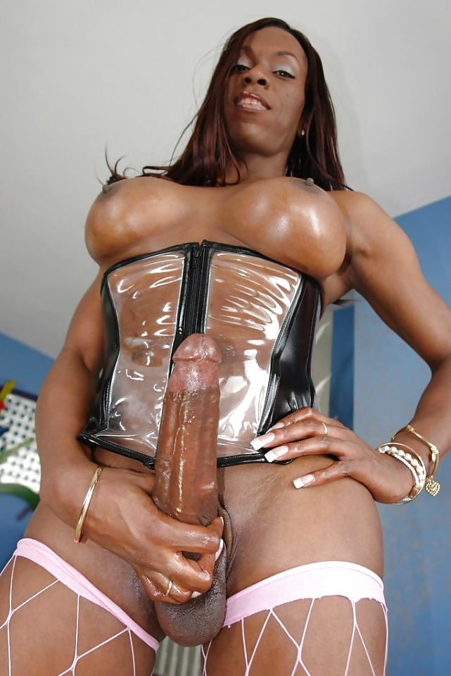 Black Beautiful Tranny In Stockings Takes White Dude's Cock