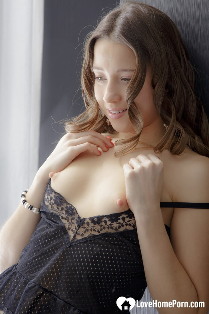 Smoking secretary in lingerie gets a shaft