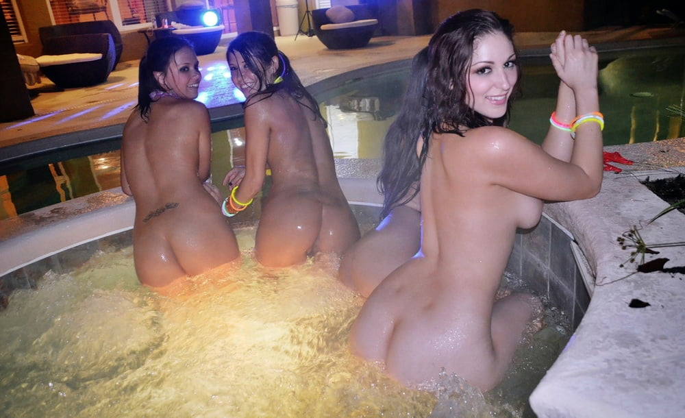 Naked pool party sex