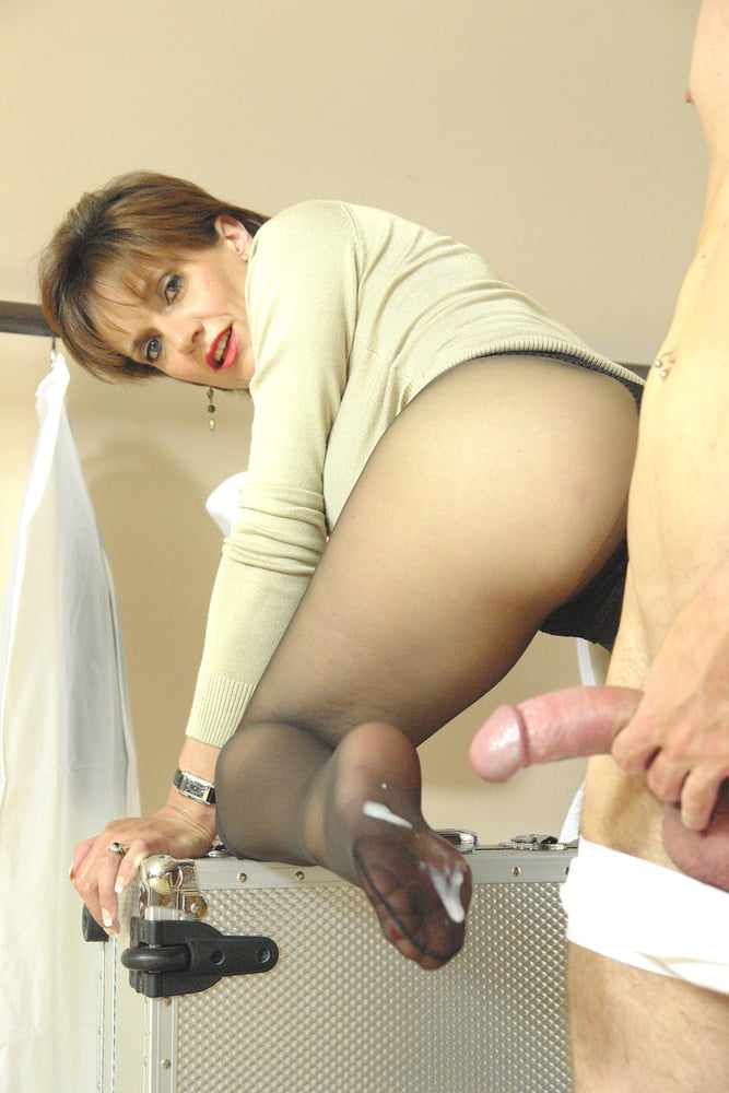 Lady sonia handjob nylons tube, how to make a woman want more sex