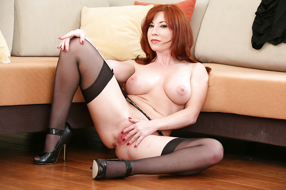 Hot Redheaded Milf Babe Brittany O In Stockings Spre 1