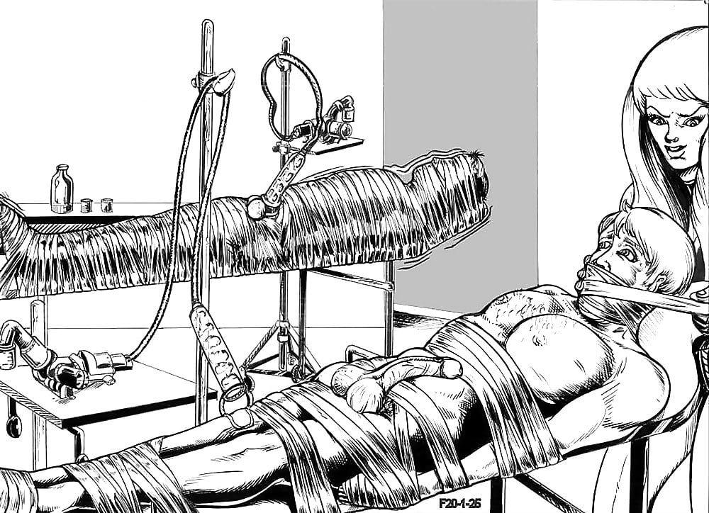 Fetish mummification drawings hand