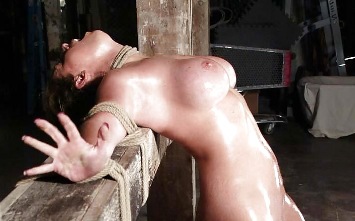 Bdsm oiled and tied
