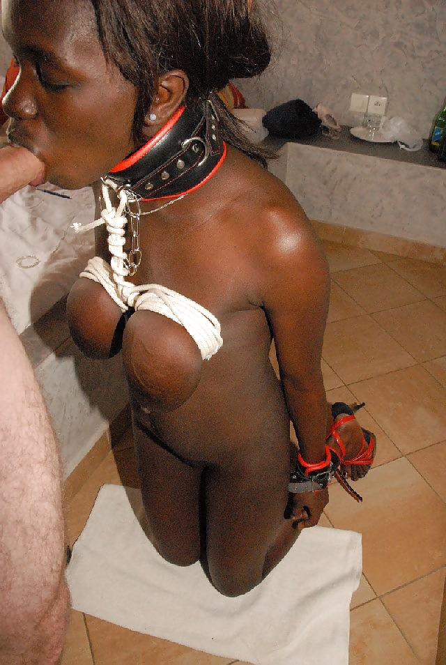 Dominatrix photo of poor ebony slave girl in diaper gets
