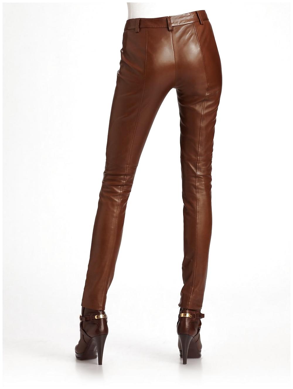 Black leather pants fuck