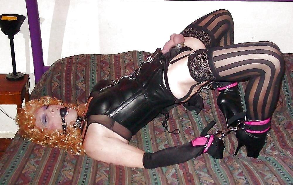 Crossdresser bondage caption