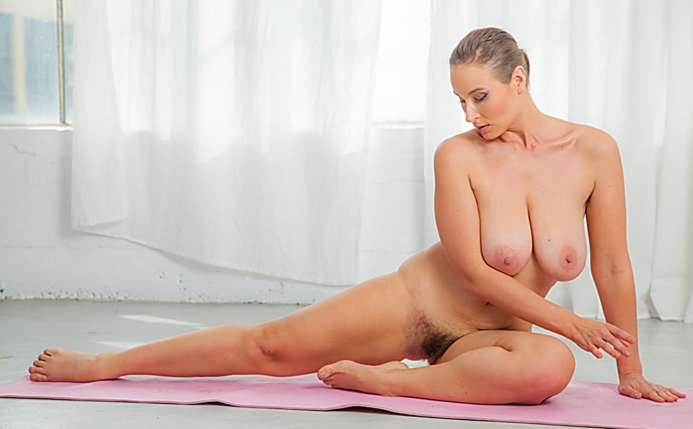 Naked flexible girls have fun in hot nude yoga photo