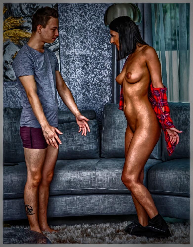 Lovemaking Art Oil Painting Effect - 3 - 27 Pics