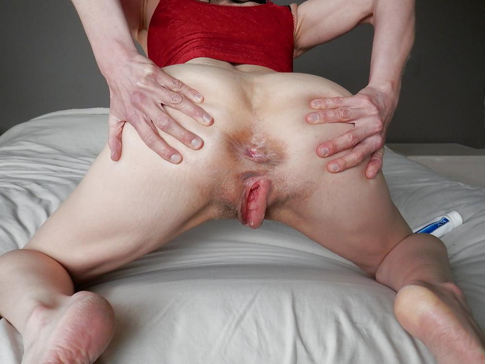 Ugly slut inside out asshole