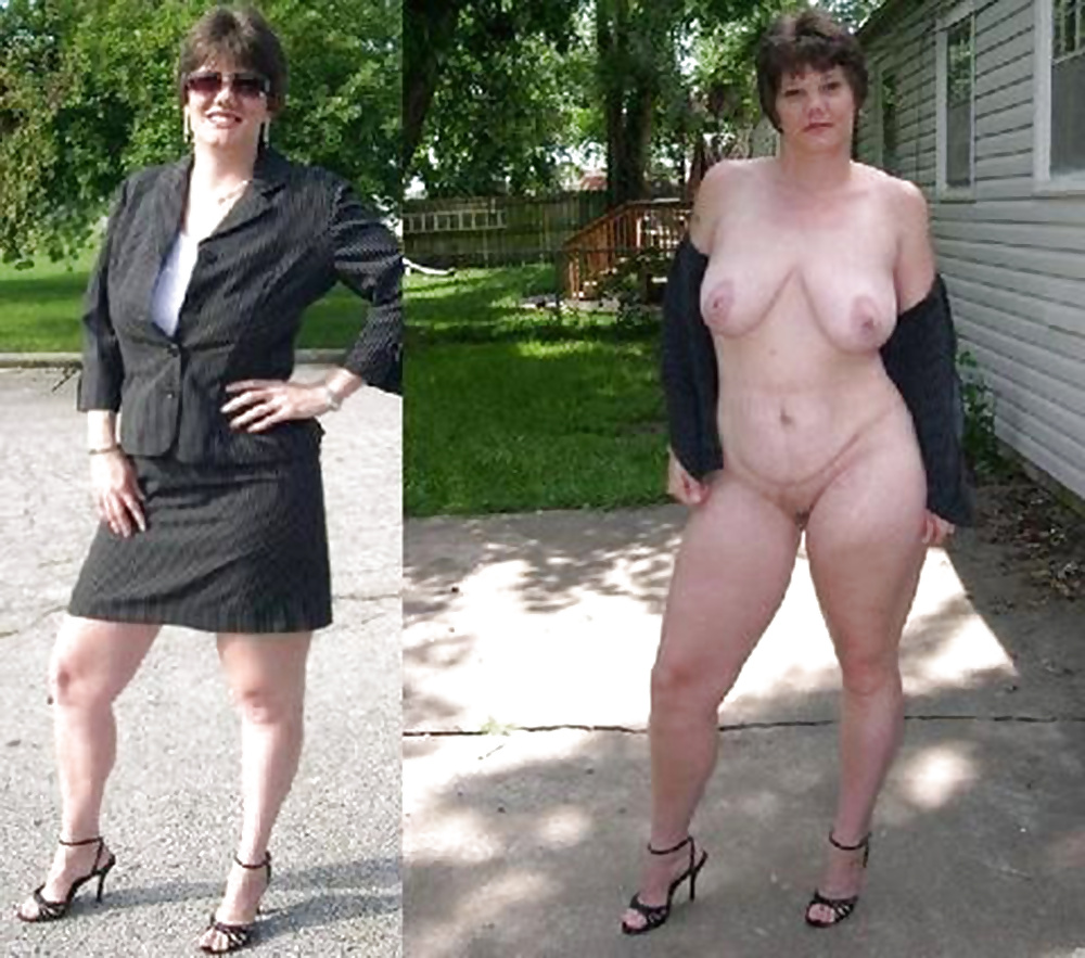 Bbw latina mom dressed undressed before and after