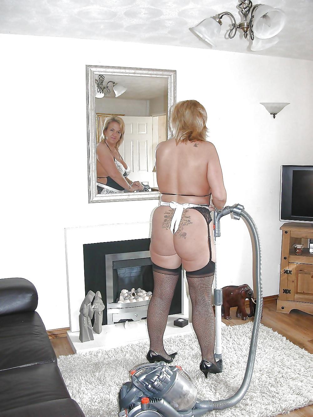Man Surprised By His Housekeeper Working Nude