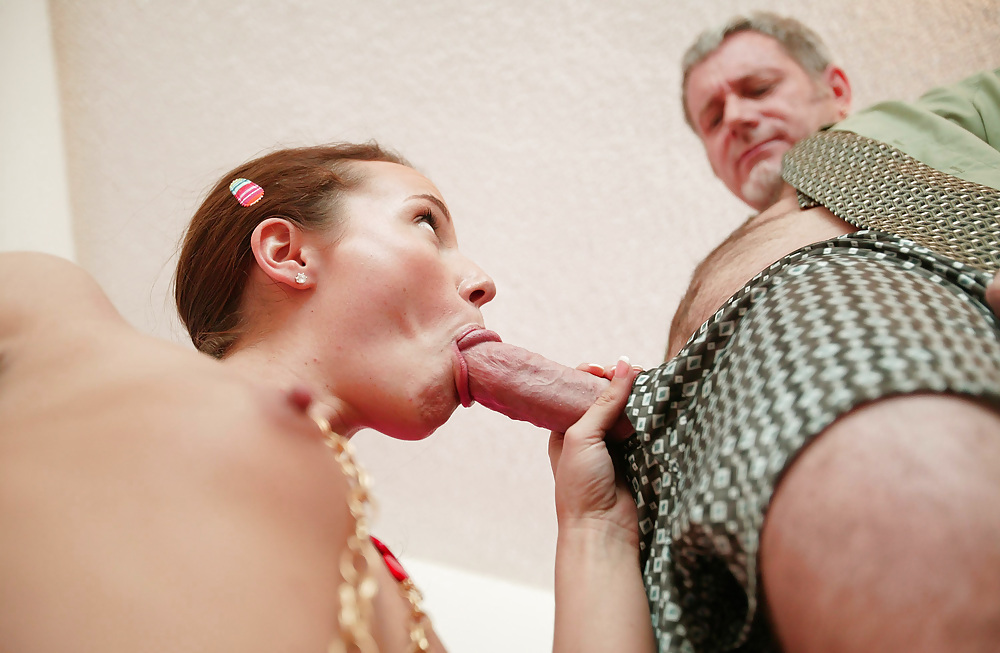 Old women sucking milky young girl — photo 12