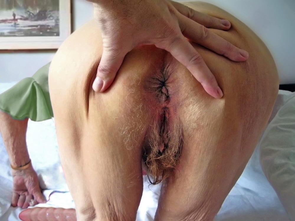 Grandma ass hairy