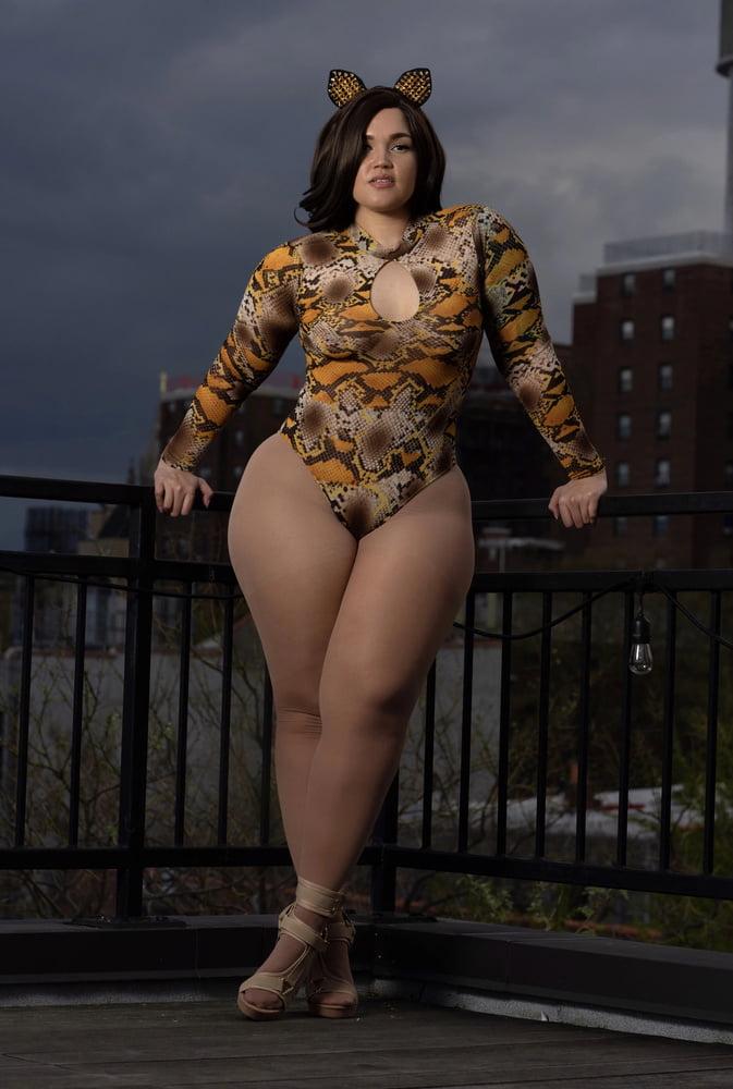 Light Skinned Thick BBW Ebony Stockings Pantyhose - 50 Pics