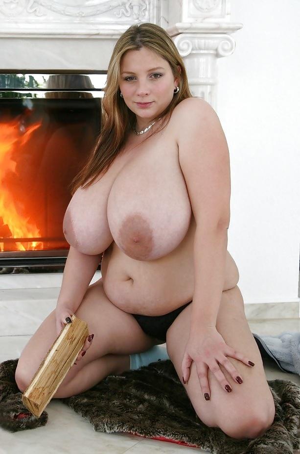 Big white boobs nude