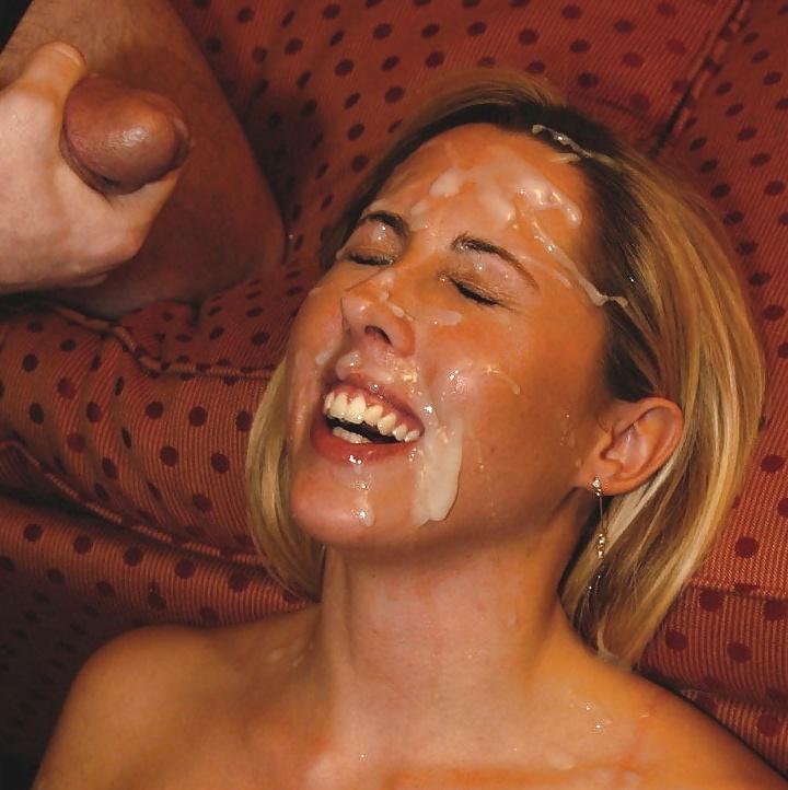 Bukkake messy facial