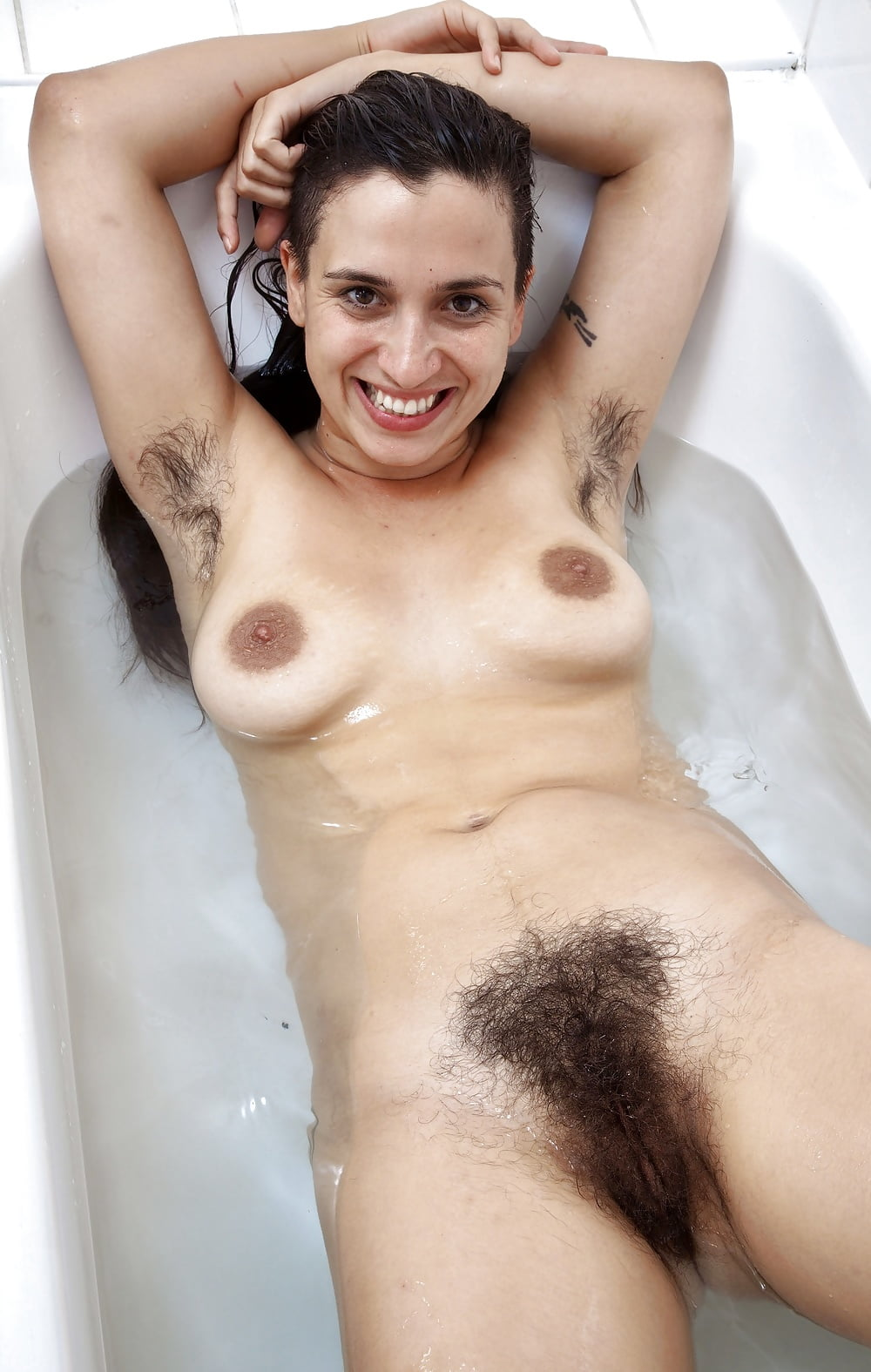 Nude dwarf hairy women in the bathroom, nudist have sex
