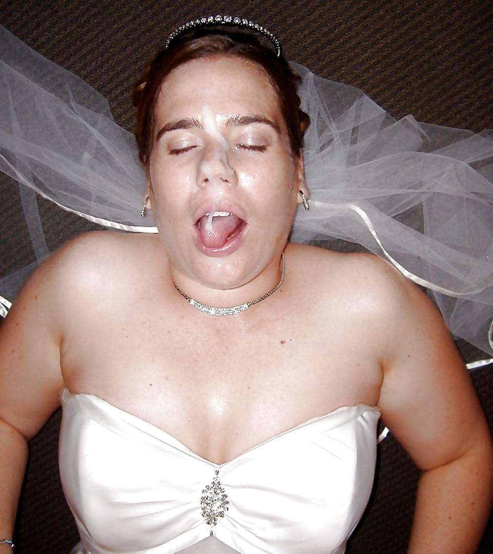 Невеста в свадебном платье все лицо в сперме фото любительские, секс муж жена подруга видео