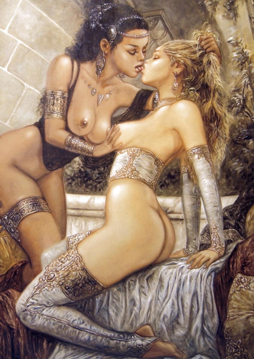 Robo lesbian in erotic art, asian girl taken advantage
