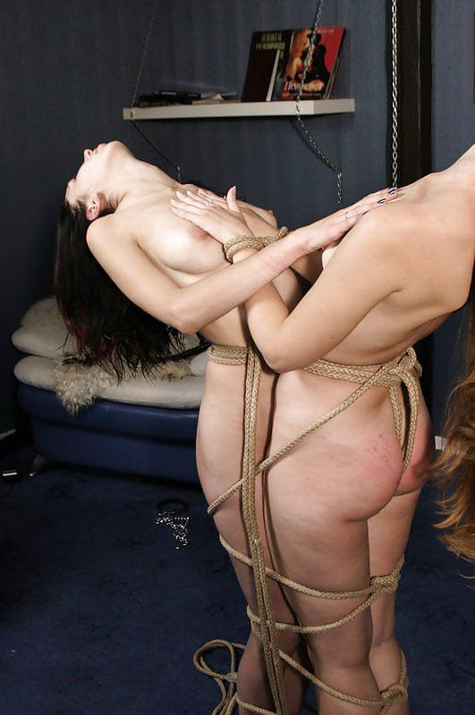 Massive breasts, roped together