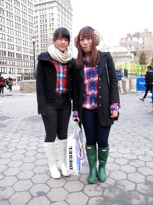 Hunter rain boots with fur-2320