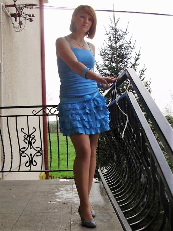 Polish slut Aldona (pantyhose, legs, satin, kurwa, polska) - 36 Pics