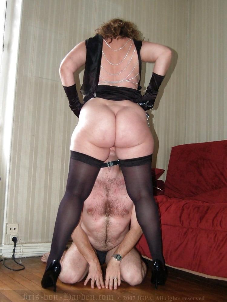 Mature woman dominates young — 3