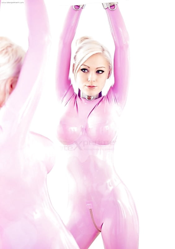 Barbie girl in pink latex