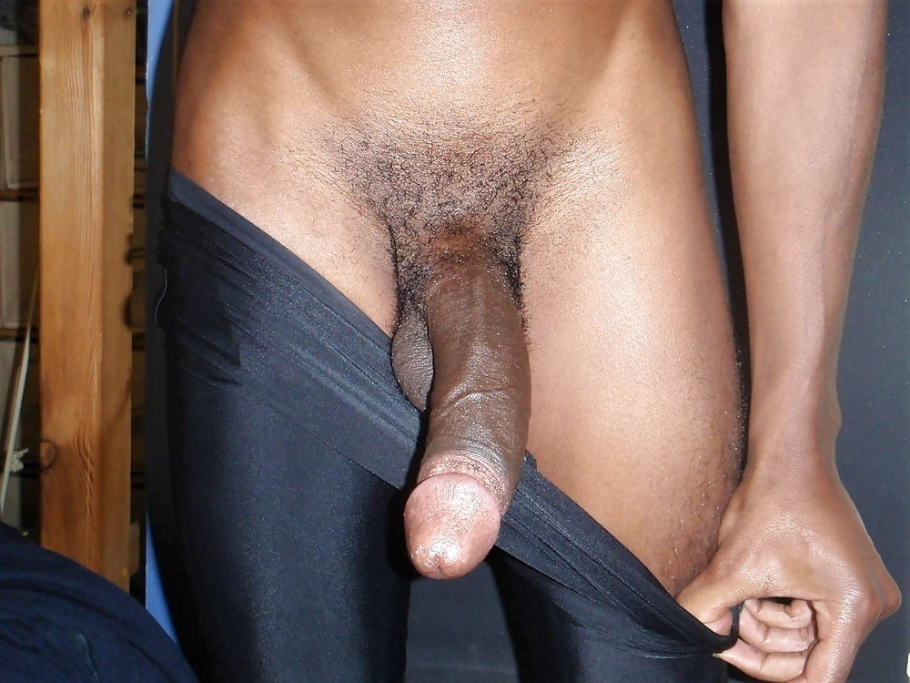 Big black dick getting hard