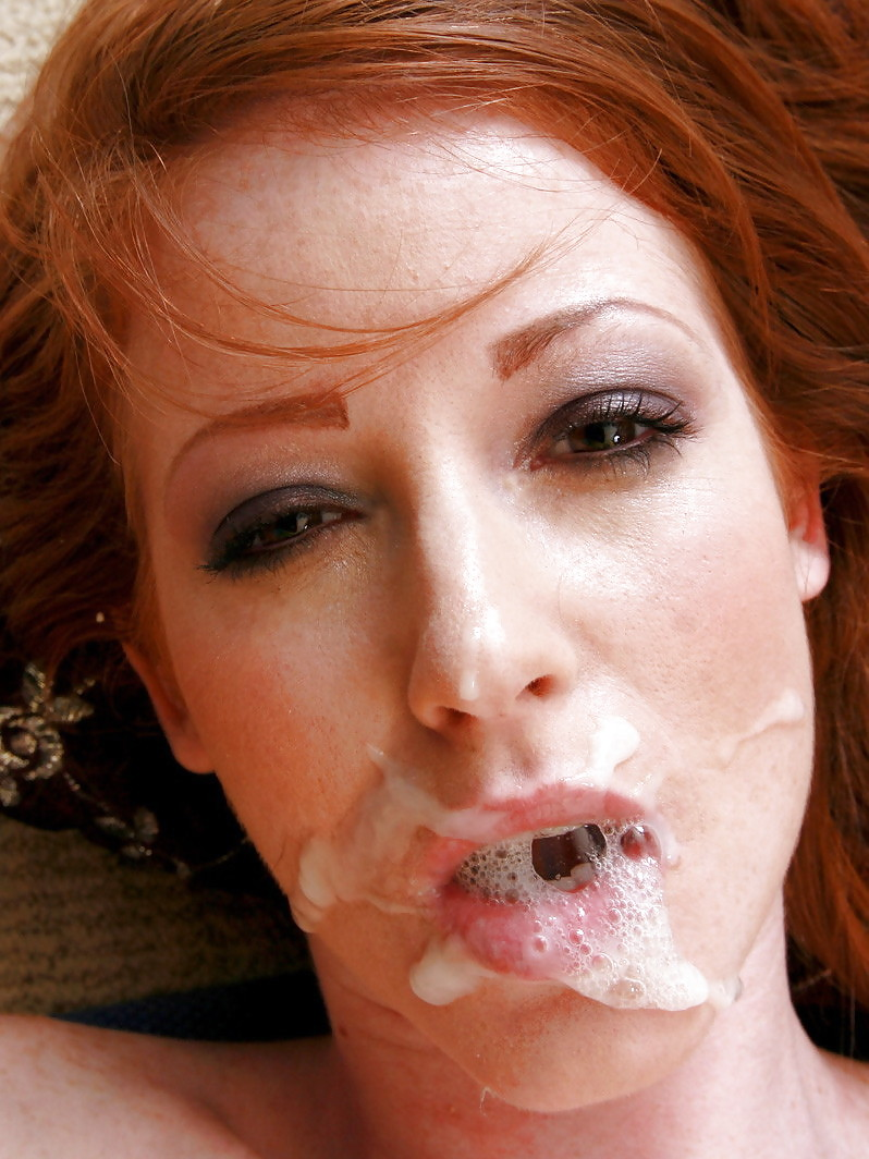Cumshot on redhead sex