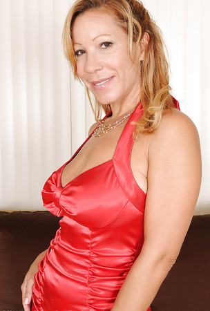 black and red dress milf