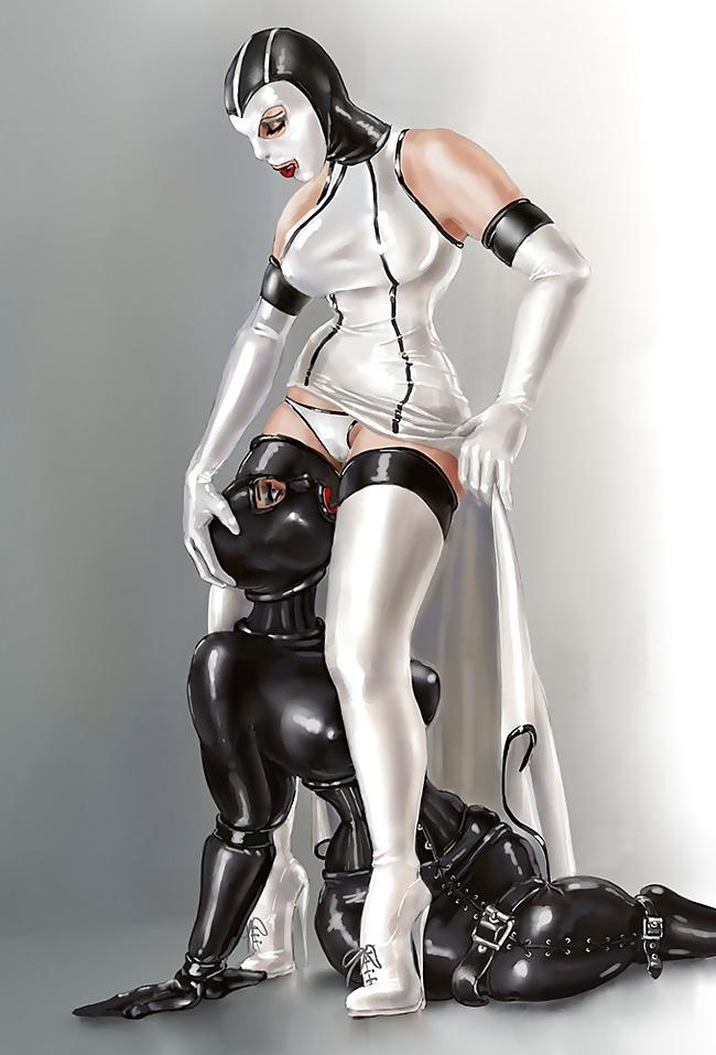 Latex rubber dress