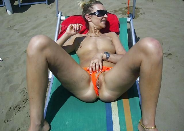 Beach tampon pussy #13