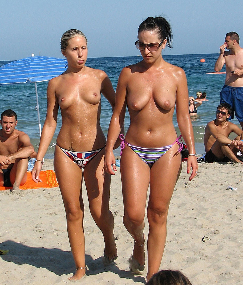 Cute mother daughter topless thick