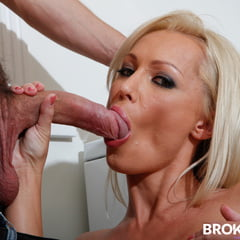 BrokenMILF Diana Doll Cheats On Her Hubby With The Pizza B