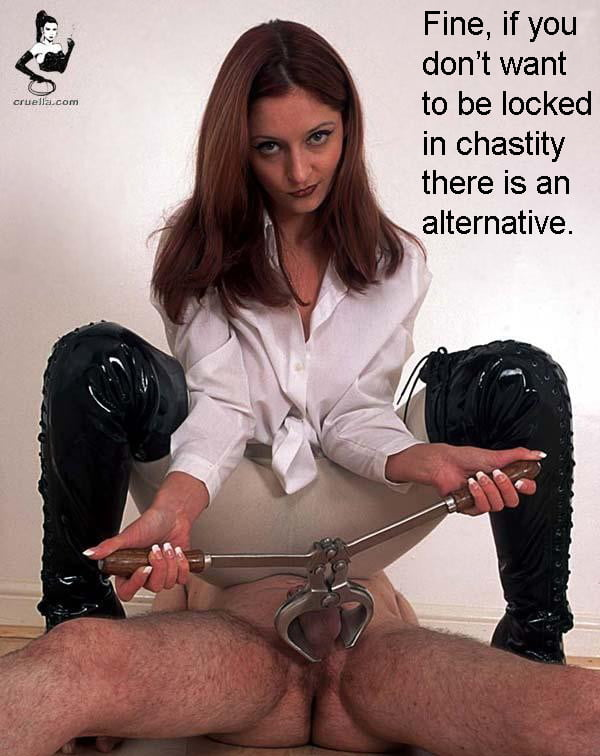 Femdom castration burdizzo clamps — pic 4