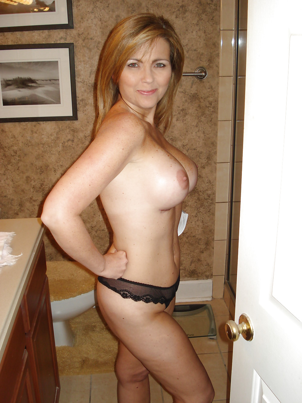 amateur wife topless lingerie