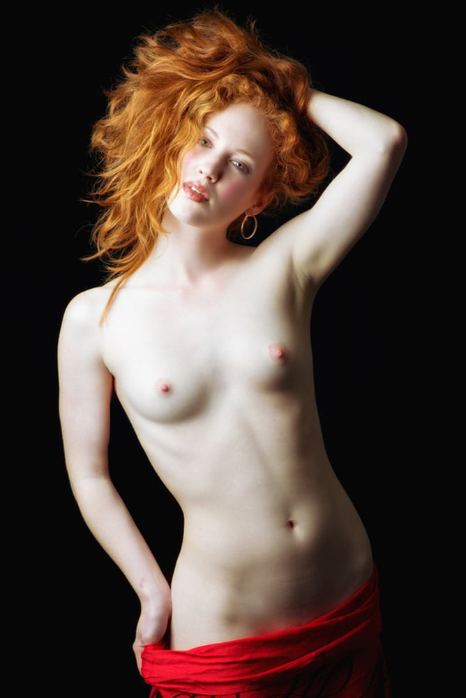 Red head long legs naked