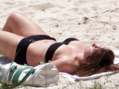 Topless and bikini mix