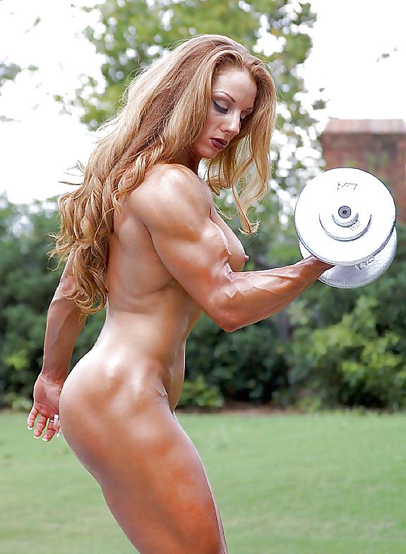 Naked girl in strong