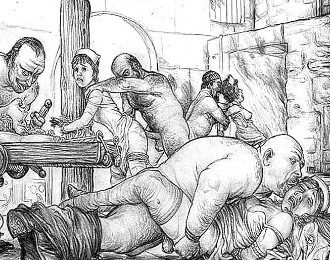 Порно извращение рисунки #13