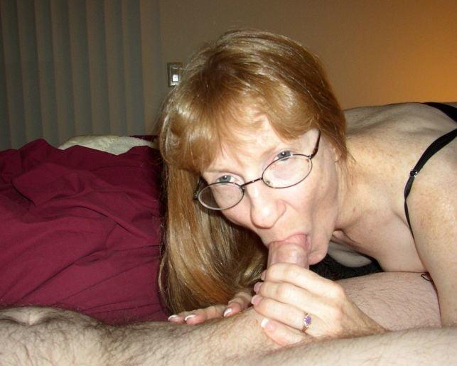 Blonde mature bj