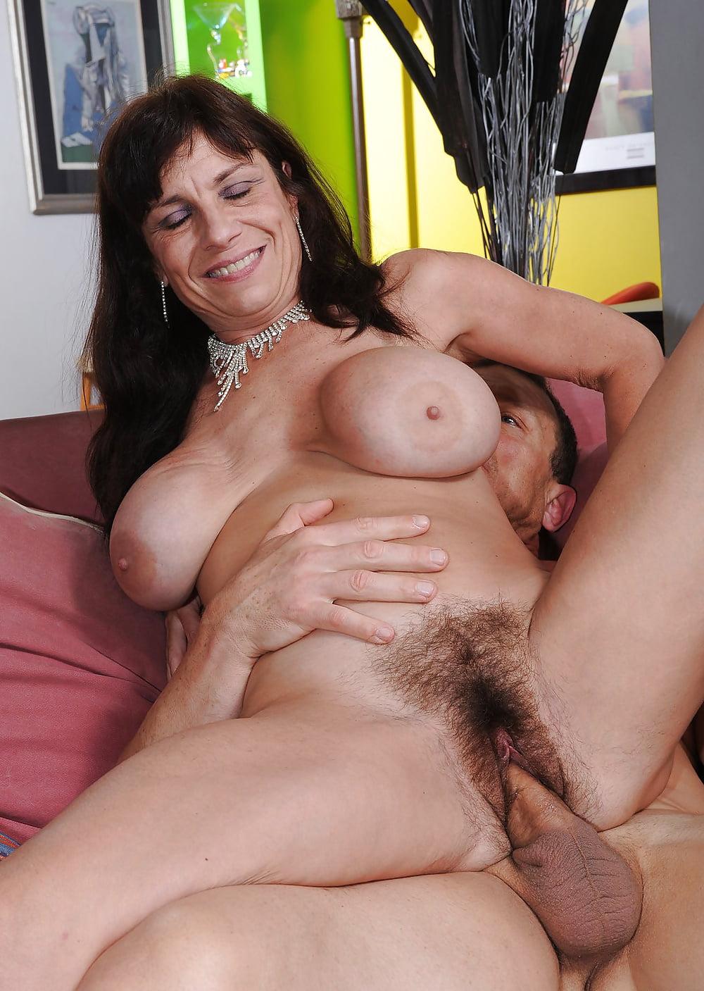 Hairy mom fucking hard