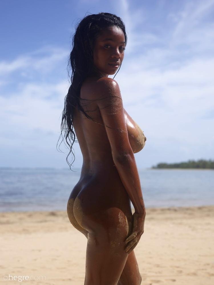 Ebony beach porn