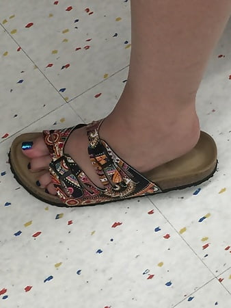 wife s cute new sandals with sexy toes and soles