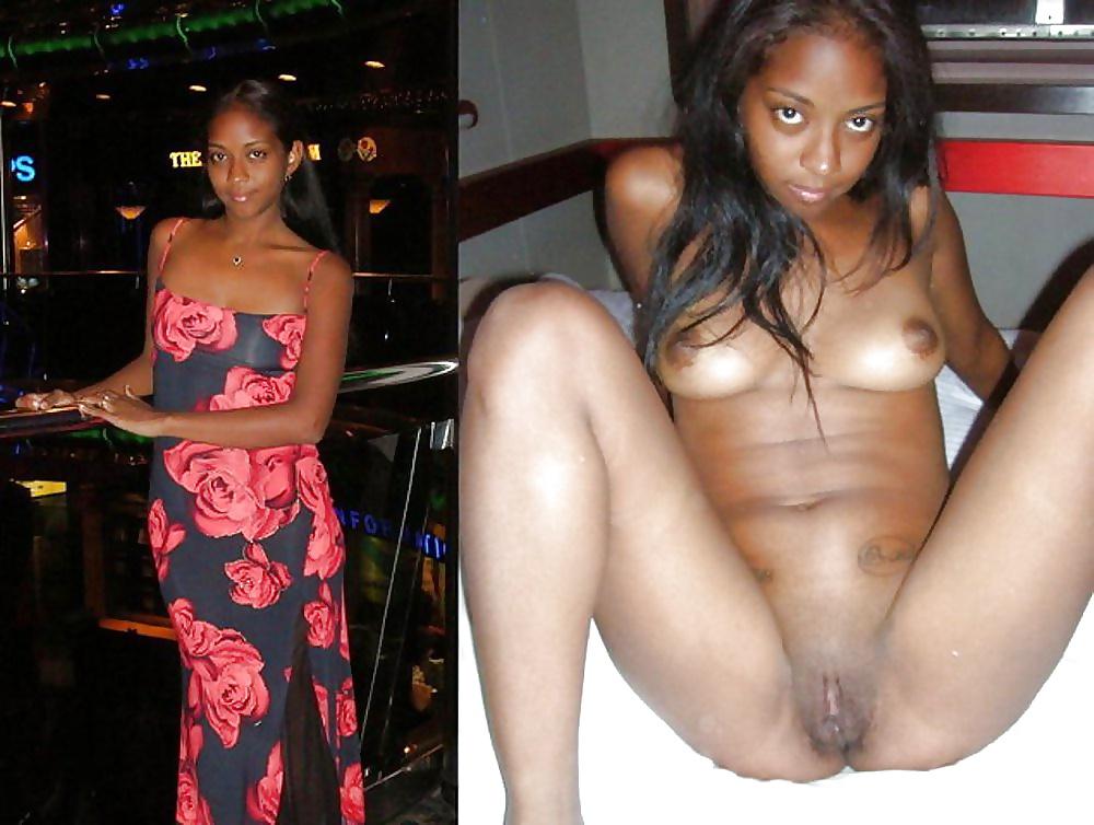 Ebony girls undressing